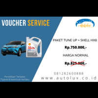 VOUCHER SERVICE TUNE UP + SHELL HX8