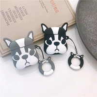 BUY 2 CASE AirPods gen 1&2 / inPods 12 - French Dog 3D (Black & Grey)