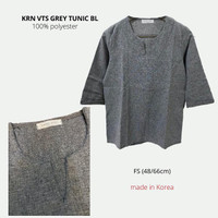 Baju Branded Wanita - VINTAGE SALON GREY TUNIC BL