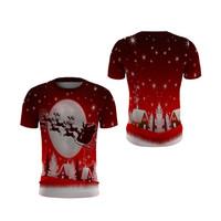 Kaos Natal Pria MERRY CHRISTMAS FullPrint O-Neck - ART 11, S