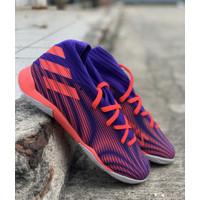 Sepatu futsal adidas original Nemeziz.3 ungu orange new 2020