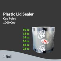 Plastik Lid Sealer Cup Polos 1000 Cup Nagoya / Tutup Gelas Plastik Cup