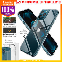 Case iPhone 12 Pro Max / Pro / Mini Spigen Quartz Hybrid Glass Casing