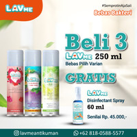 Lavme Anti Bacterial Spray 250ml - 3pcs Free Lavme 60ml