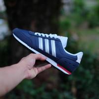 sepatu Sport merk adidas neo city racer navy silver