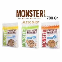 Monster muesli oatmeal 700 g sport tropical cereal sarapan sehat 700gr
