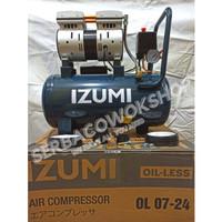 Izumi Mesin Kompressor Oilless Angin/Listrik Izumi 3/4 HP 24L OL 09-24