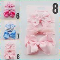 Bandana bayi set 3in1 mel bando bayi headband baby newborn headband