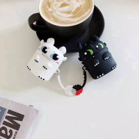 BUY 2 CASE AirPods gen 1&2 / inPods 12 - Toothless 3D (Black & White)