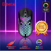Mouse Gaming Gamen GM710 Black -Ultralight Design 6400DPI