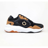 Sepatu running Ortuseight original capella black brown white new 2020