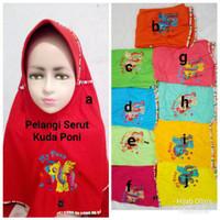 Jilbab Instan Anak Kaos Super Pelangi Serut Poni