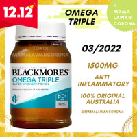 BLACKMORES Odourless Fish Oil 1000 / Omega 3 Triple Concentrated 1500