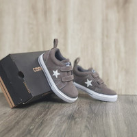 Sepatu Anak Kids Converse Suede Grey White Slip on
