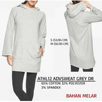 Dress Branded Wanita - ATHLETA 12 ADVSWEAT GREY DR