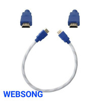 KABEL HDMI MALE TO MALE WEBSONG 0.5 M OR 50 CM (WHITE)