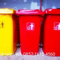 Tempat/ tong sampah besar , fiber kapasitas 240 liter warna varian