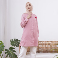 Wulfi Day to Day Kemeja Tunik Toyobo Fenomenal Blush Pink