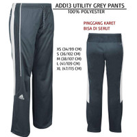 Celana Branded Wanita - ADIDAS 13 UTILITY GREY PANTS