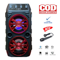 Speaker Fleco Super Bass F-301 Bluetooth Wireless Speaker + Mic