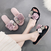 Sandal Santai Wanita Korea Dengan Motif Yang Lucu Dan Imut SLS19 - 26CM, Black