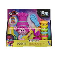 PlayDoh Trolls Poppy Mainan Playdoh Boneka Trolls Dengan Cetakan