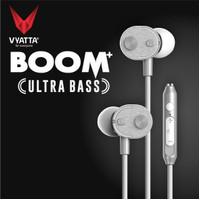VYATTA BOOM Earphone / Headset / Handsfree - ULTRA BASS - Silver
