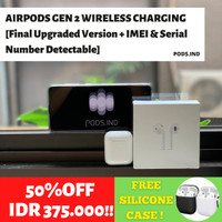 Airpods Gen 2 Wireless Charging Case (IMEI & Serial Number Detectable)