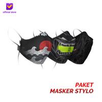 Masker Kain Non Medis Footstep Footwear – Earloop Mask Stylo (3Pcs)