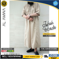 Baju Jubah Gamis Bordir Sholat Muslim Pria Original AL AMWA TDA-JU007