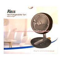 Kris rechargeable fan table Black Kipas Angin meja bisa berputar USB