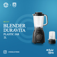 PHILIPS Blender Duravita 2 Liter - HR2157 [ANTI PECAH]
