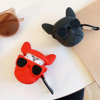BUY 2 CASE AirPods gen 1&2 / inPods 12 - Bull Dog 3D (Black & Red)
