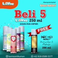 Lavme Anti Bacterial Spray 250ml - 5pcs Free Docmed 200ml