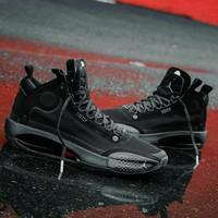 Sepatu Nike Air Jordan 34 Black Cat Premium Original