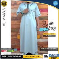 Baju Jubah Gamis Oblong Sholat Muslim Pria Original AL AMWA TDA-JU008