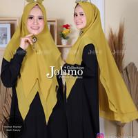 Khimar Ceruty Ghania/Jilbab 2 Layer/Hijab Pet Antem