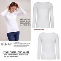 Baju Branded Wanita - TOP TEN 01 ONAIR LONG WHITE