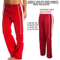 Celana Branded Wanita - ADIDAS 13 UTILITY RED PANTS