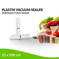 Plastik Refill Vacuum Sealer Embossed 1 Roll / 22 x 500 cm