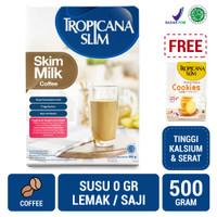 Tropicana Slim Non Fat Skim Milk Coffee 500gr FREE Cookies (5 Sch)