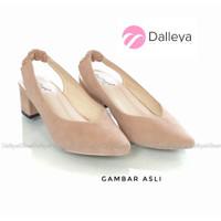 AJENG - Dalleya sepatu hak tinggi wanita pantofel lerka polos murah