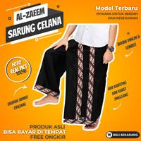 Sarung Celana Dewasa Pria Jumbo Hitam Batik Alzaeem