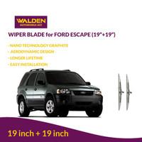 "PAKET Wiper Mobil Blade Walden for Ford Escape (19"" + 19"")"