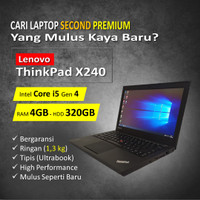 Laptop Notebook Lenovo Thinkpad x240 Core i5 Ram 4GB HDD 320GB Murah