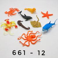 Mainan Hewan Binatang Laut / Sea Animal isi 9pcs