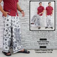 fillea Keris putih sarung celana batik pria baju ibadah modern murah