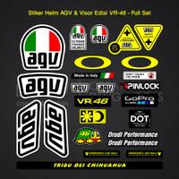 Stiker / Sticker Helm AGV Full Set Edisi Valentino Rossi