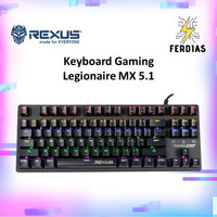 Keyboard Gaming RGB Mechanical Rexus Legionare MX 5.1 - FERDIAS