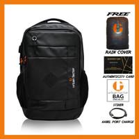 Tas Ransel Laptop Pria Backpack Kantor Urban Factor Luxurious - Hitam